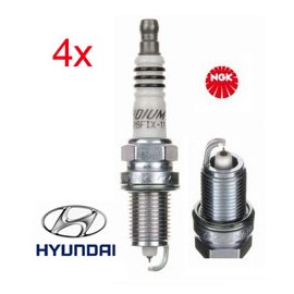 Bougie Set (4x) Hyundai i20 i30 | NGK Iridium ZFR5FIX-11 (2477)