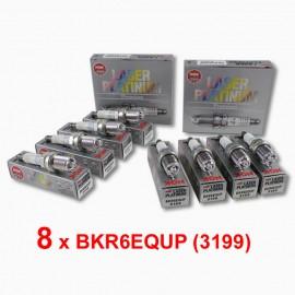8 x NGK BKR6EQUP (3199) Laser Platinum Bougieset - Audi BMW Porsche VW