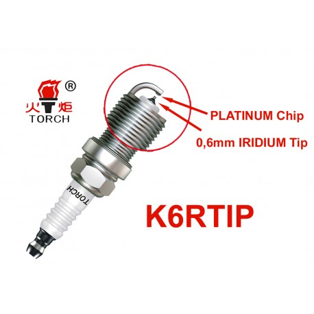 Torch K6RTIP Iridium Platinum Bougie