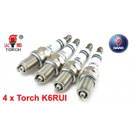 Bougieset 4x Torch K6RIU Iridium U-Groove SAAB 9-3 9-5