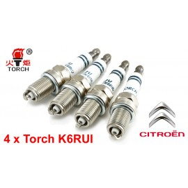 Bougieset 4x Torch K6RIU Iridium U-Groove CITROEN 4 cil.