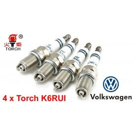Bougieset 4x Torch K6RIU Iridium U-Groove VW 1.4 1.6 2.0