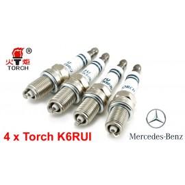 Bougieset 4x Torch K6RIU Iridium U-Groove Mercedes Benz 2.0 2.3