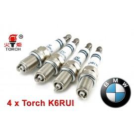 Bougieset 4x Torch K6RIU Iridium U-Groove BMW 316 318i 518i