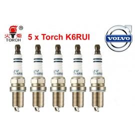 Bougieset 5x Torch K6RIU Iridium U-Groove Volvo 5 cil.