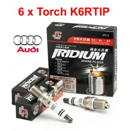 Bougieset 6xTorch K6RTIP Iridium AUDI A4 A5 A6 A8 Q5 2.4 V6 3.2 2.8 FSI