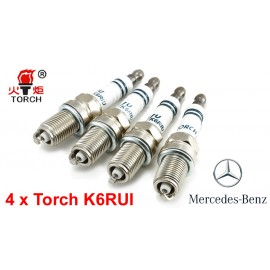 Bougieset 4x Torch K6RIU Iridium U-Groove Mercedes Benz 2.0 2.3
