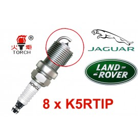 Bougieset 8xTorch K5RTIP Iridium - Platinum JAGUAR LAND ROVER V8