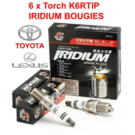 Bougieset 6xTorch K6RTIP Iridium - Platinum TOYOTA LEXUS 6 cil.