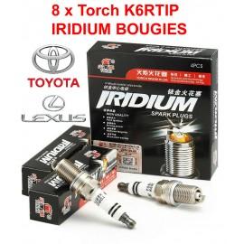 Bougieset 8xTorch K6RTIP Iridium - Platinum TOYOTA LEXUS V8