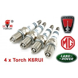 Bougieset 4x Torch K6RIU Iridium U-Groove LAND ROVER MG ROVER