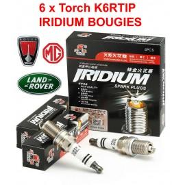 Bougieset 6xTorch K6RTIP Iridium - Platinum LAND ROVER MG V6