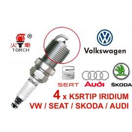 Bougieset 4xTorch K5RTIP Iridium - Platinum AUDI SEAT SKODA VW