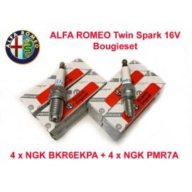 Bougieset 8x Alfa Romeo Twin Spark 16V | NGK BKR6EKPA PMR7A